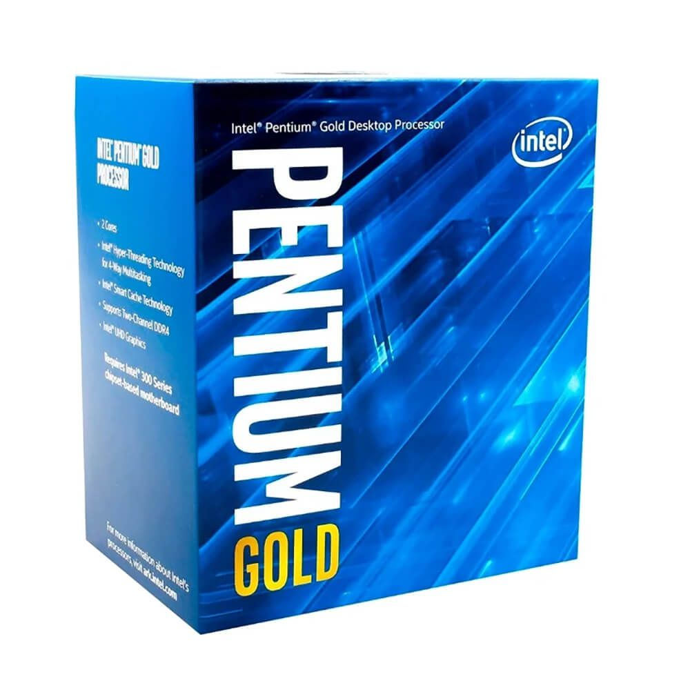 CPU Intel Pentium Gold G6400 (4.0GHz, 2 nhân 4 luồng, 4MB Cache, 58W) box - Socket Intel LGA 1200)