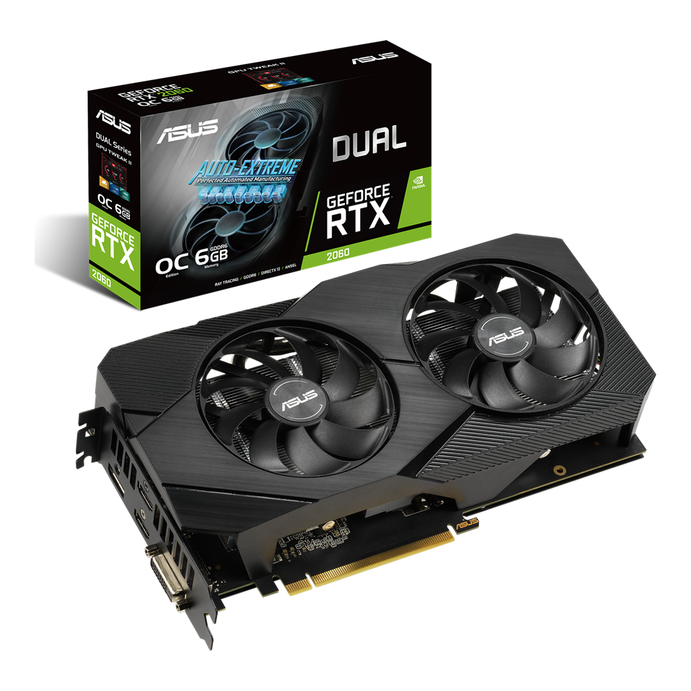 ASUS Dual GeForce RTX 2060 OC edition EVO 6GB GDDR6