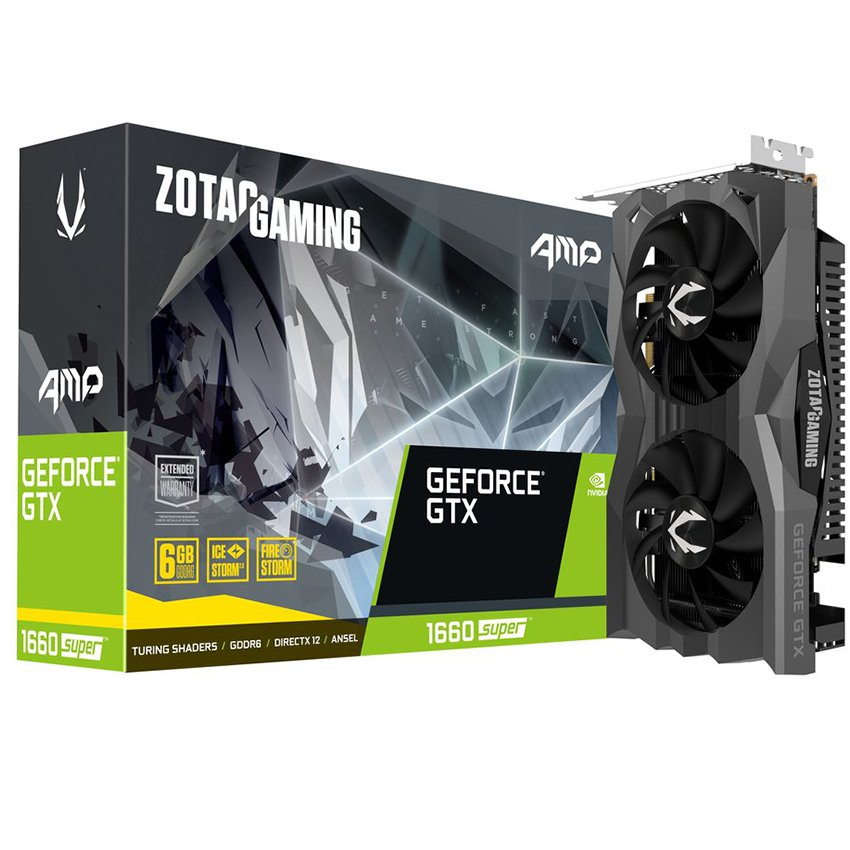 Card màn hình ZOTAC GAMING  GTX 1660 Super (6GB GDDR6, 192-bit, HDMI+DP, 1x8-pin)