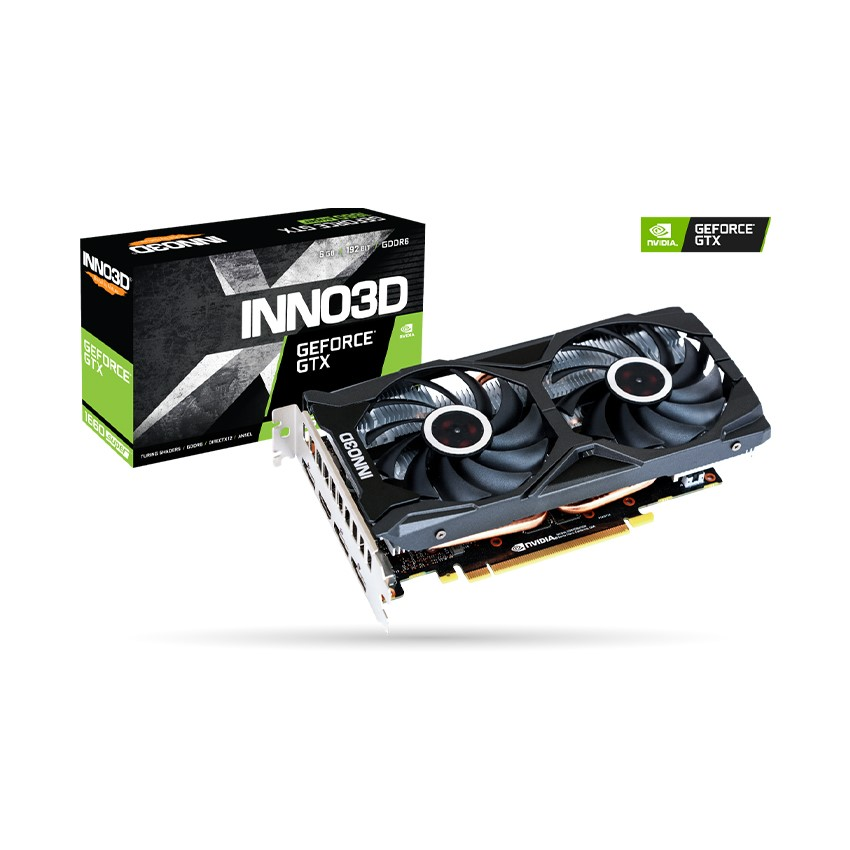 Card màn hình INNO3D GTX 1660 Super TWIN X2 (6GB GDDR6, 192 bit, HDMI DP, 1x8 Pin)